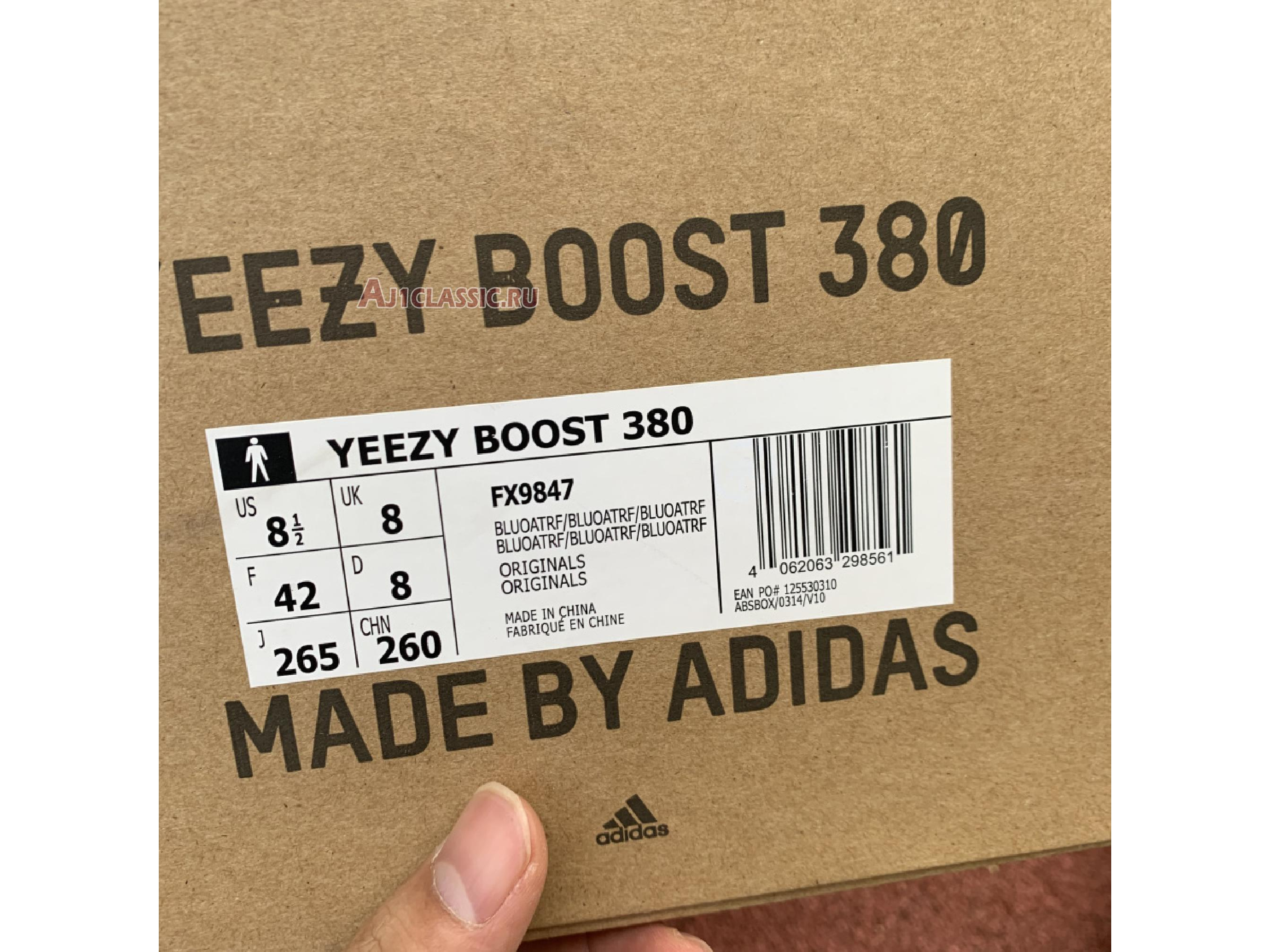 "Adidas Yeezy Boost 380 ""Blue Oat Reflective"" FX9847"