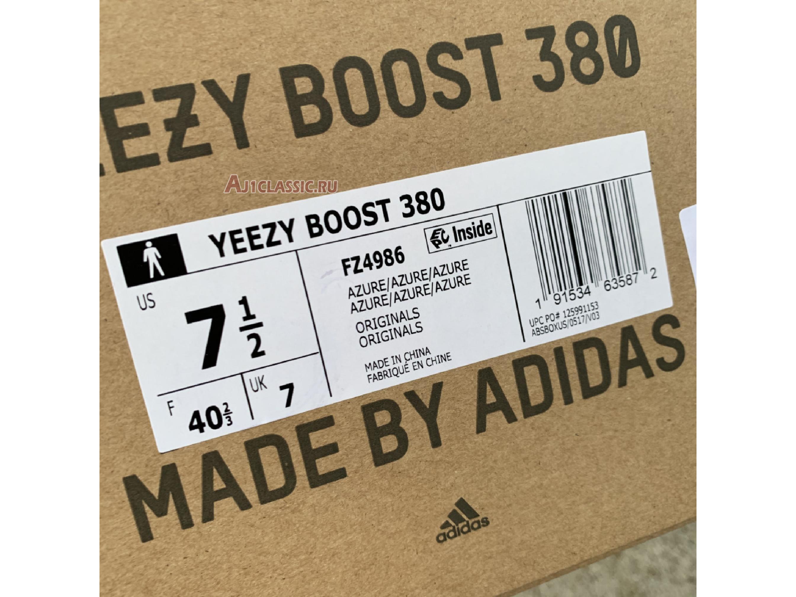 "Adidas Yeezy Boost 380 ""Azure"" FZ4986"