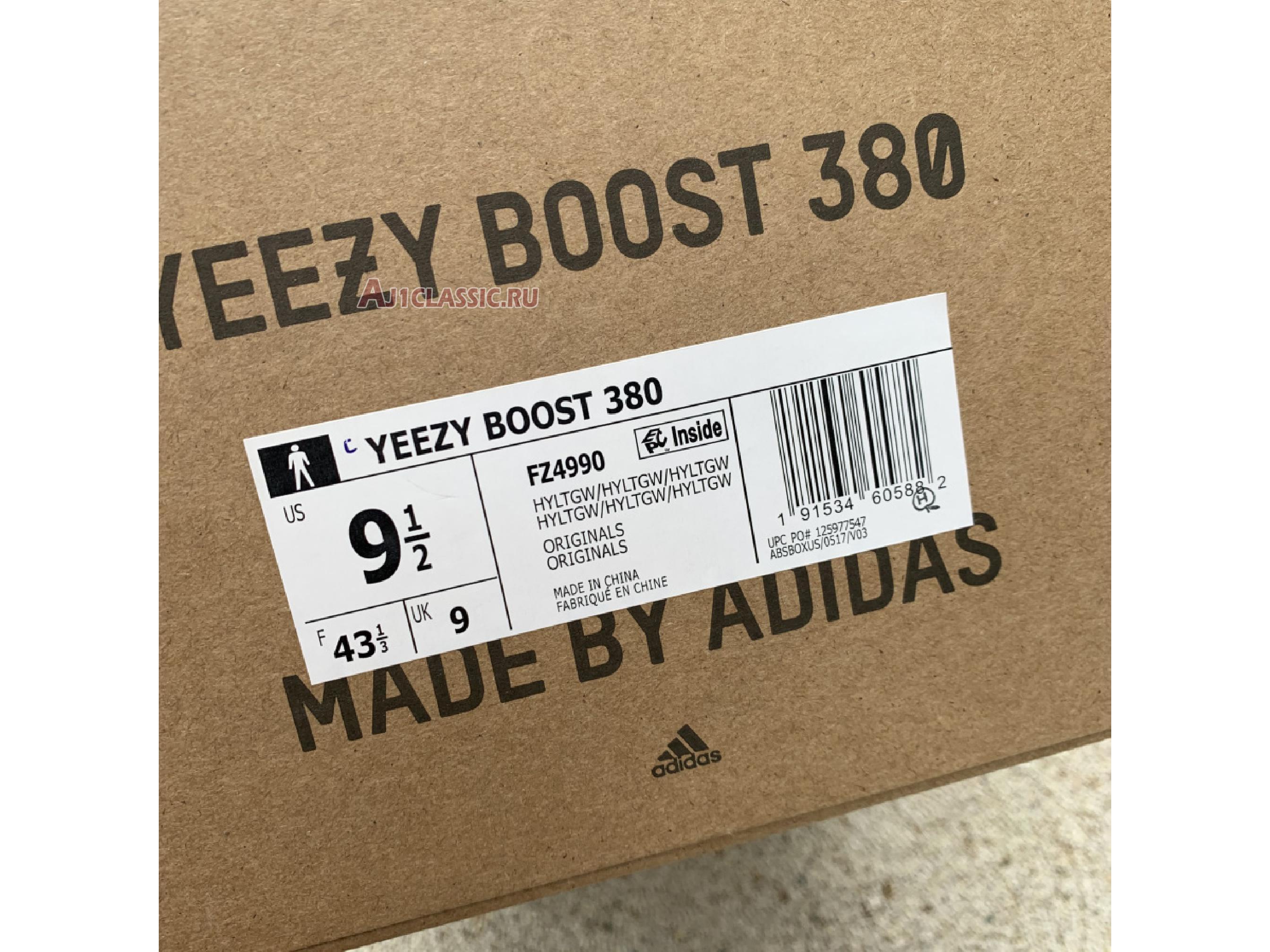 """Adidas Yeezy Boost 380 """"Hylte Glow"""" FZ4990"""