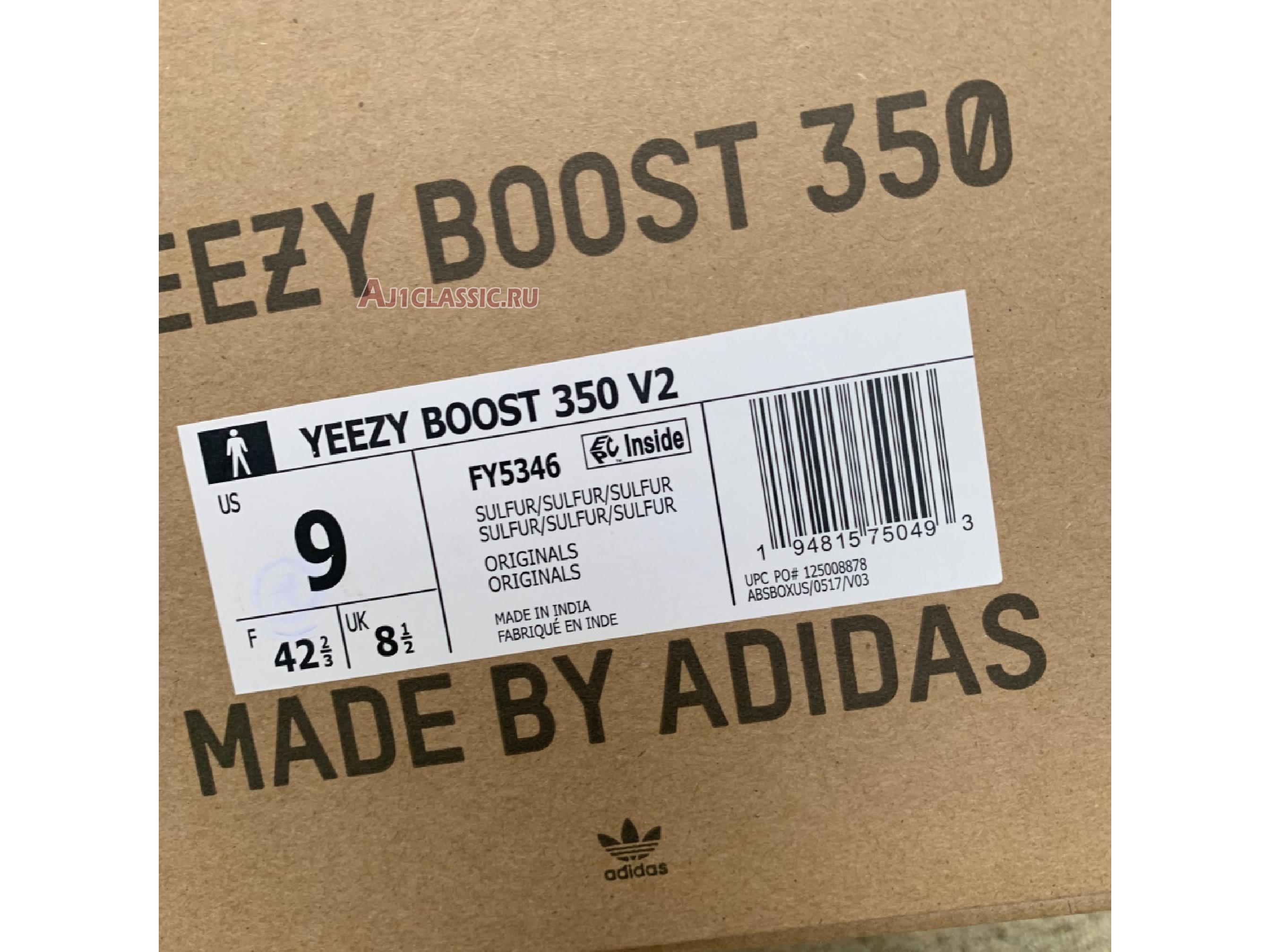 """Adidas Yeezy Boost 350 V2 """"Sulfur"""" FY5346"""