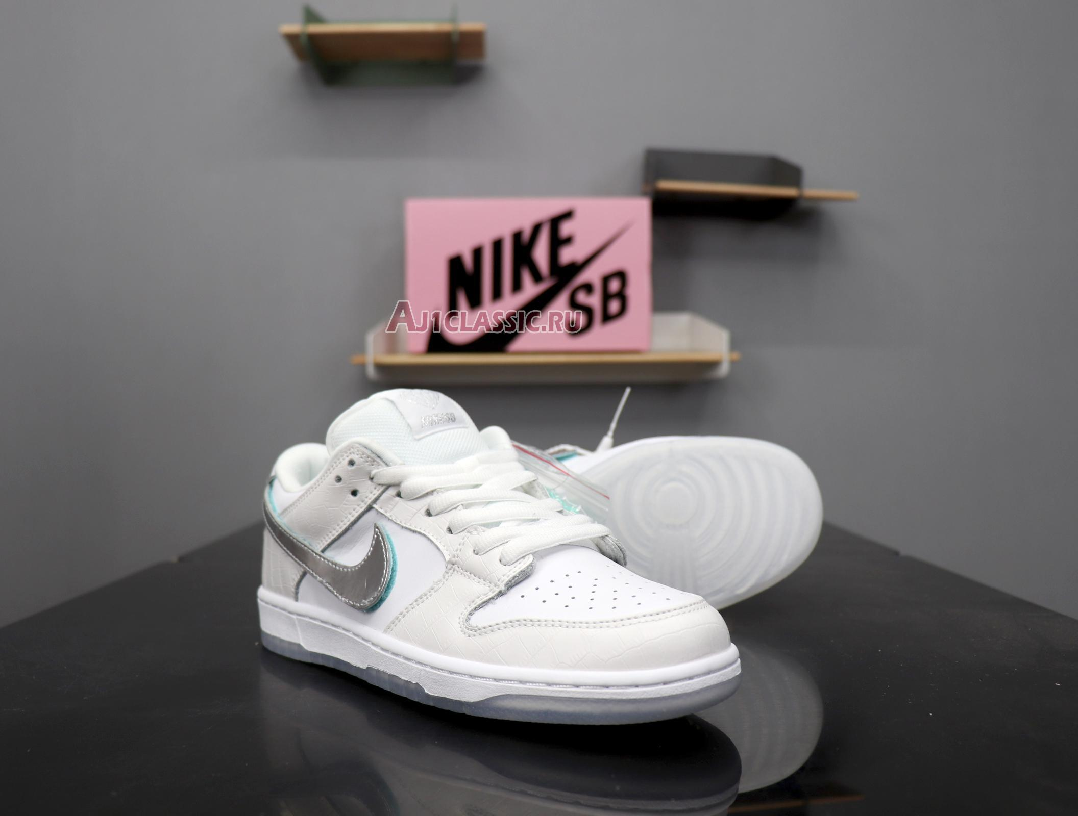 "Nike Diamond Supply Co. x Dunk Low Pro SB ""White Diamond"" BV1310-100"