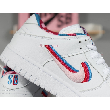 Parra x Nike SB Dunk Low CN4504-100 White/Pink Rise-Gym Red Sneakers