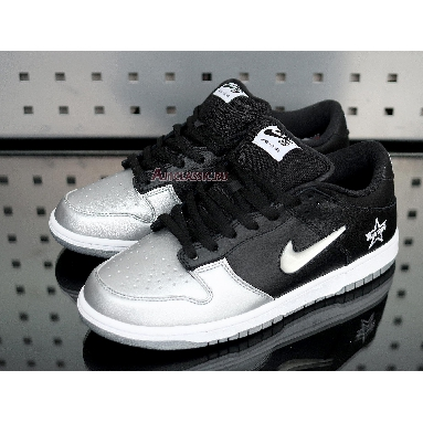 Nike Supreme x Dunk SB Low QS Metallic Silver CK3480-001 Metallic Silver/Metallic Silver/Black Sneakers