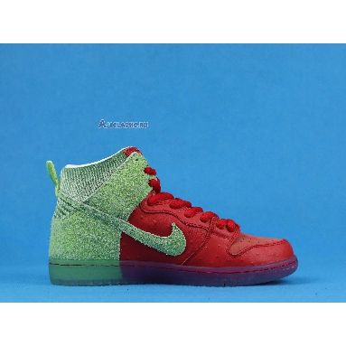 Nike Dunk High SB Strawberry Cough CW7093-600 University Red/Spinach Green/Magic Ember Sneakers
