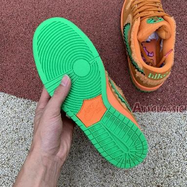 Grateful Dead x Nike SB Dunk Low Orange Bear CJ5378-800 Bright Ceramic/Green Spark Sneakers