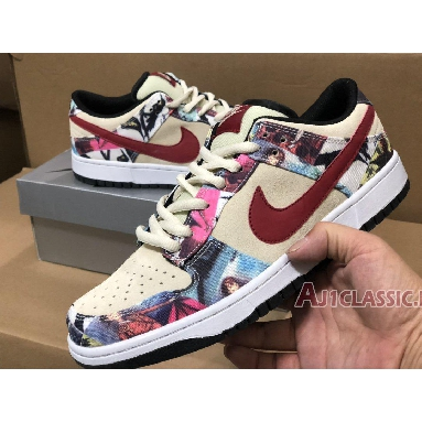 Nike Dunk Low Pro SB Paris 308270-111 Rope/Special Cardinal Sneakers