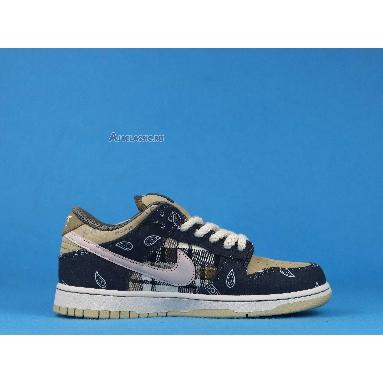 Nike Travis Scott x Dunk Low Premium QS SB Cactus Jack CT5053-001 Black/Parachute Beige-Petra Brown-Black Sneakers