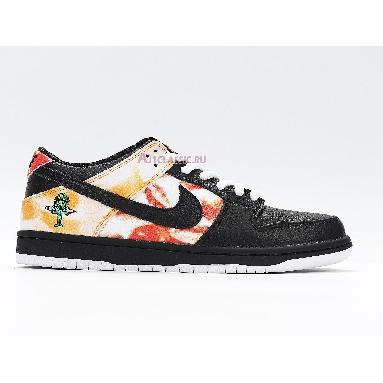 Nike Dunk SB Low Tie-Dye Raygun - Black BQ6832-001 Black/Orange Flash Sneakers