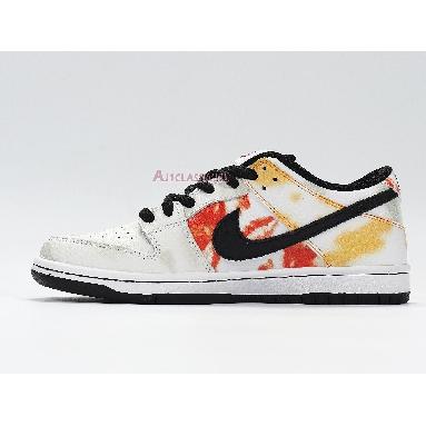 Nike Dunk SB Low Tie-Dye Raygun - White BQ6832-101 White/Orange Flash Sneakers