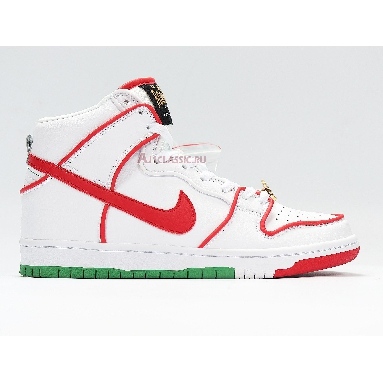 Nike Paul Rodriguez x Dunk High Premium SB Mexican Boxing CT6680-100 White/University Red Sneakers