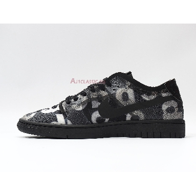 Nike Comme des Garçons x Wmns Dunk Low Monogram Print CZ2675-001 Black/Clear-Black Sneakers