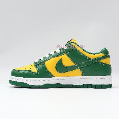 Nike Dunk Low SP Brazil 2020 CU1727-700 Varsity Maize/Pine Green-White Sneakers