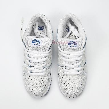 Nike Dunk Low Premium SB Cracked Leather CJ6884-100 White/White-Game Royal Sneakers