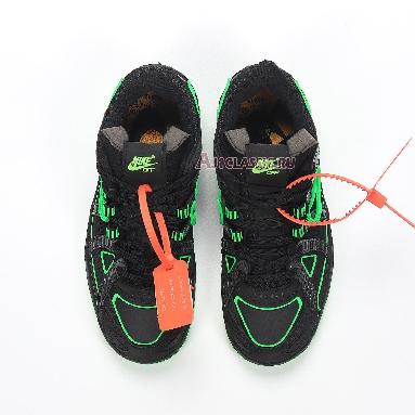 Nike Off-White x Air Rubber Dunk Green Strike CU6015-001 Black/White/Green Strike Sneakers