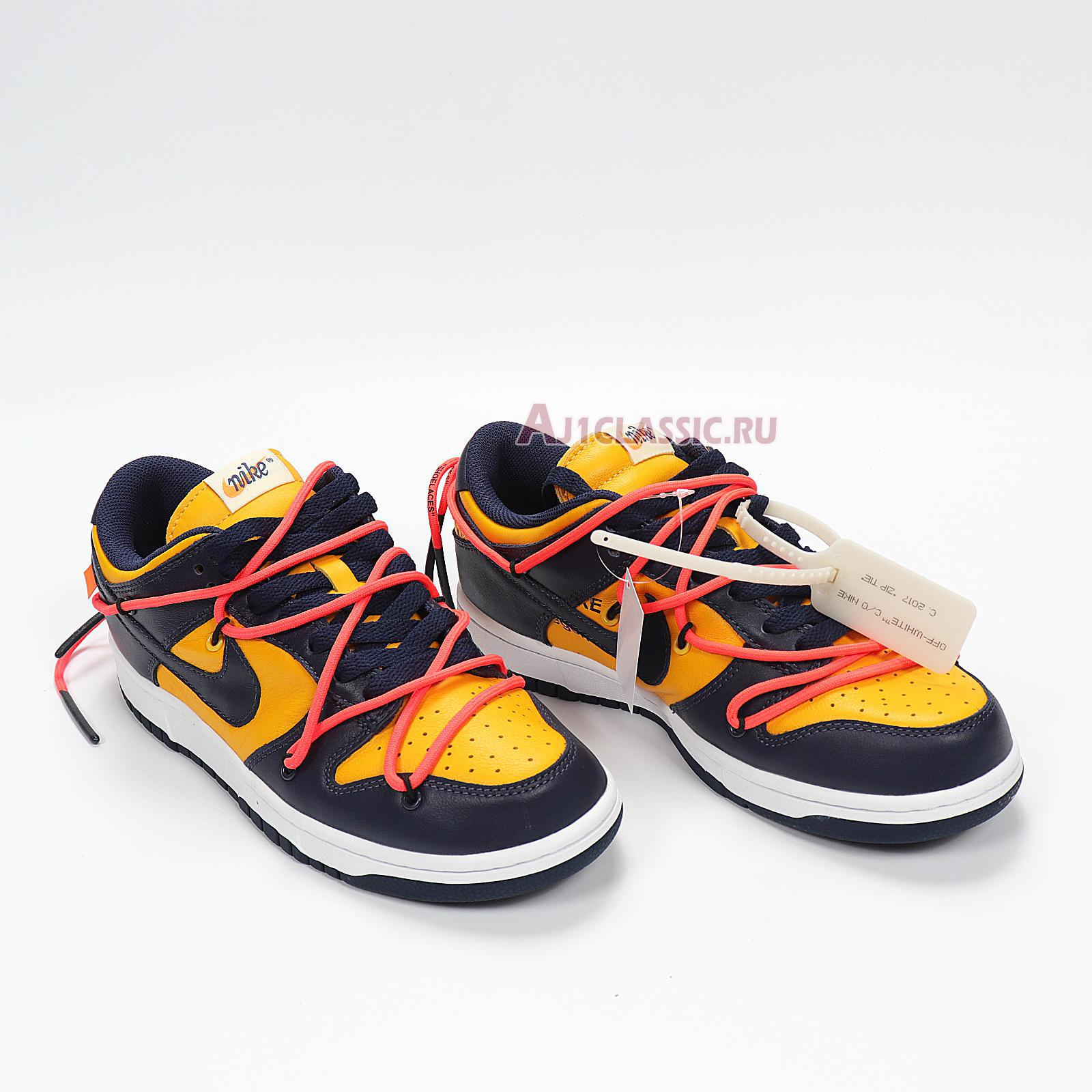 """Nike Off-White x Dunk Low """"University Gold"""" CT0856-700"""
