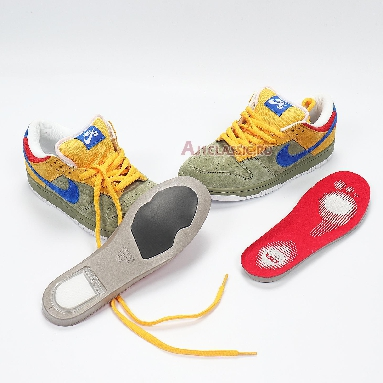 Nike Dunk Low Premium SB Puff N Stuff 313170-341 Oil Green/International Blue Sneakers