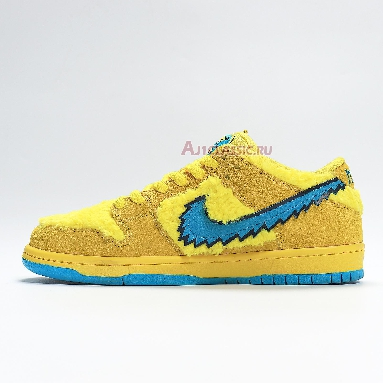 Nike Grateful Dead x Dunk Low SB Yellow Bear CJ5378-700 Opti Yellow/Blue Fury Sneakers
