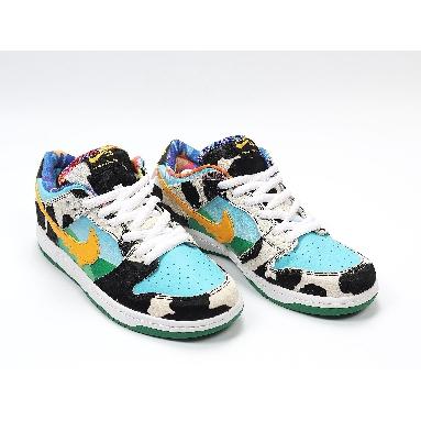 Nike Ben Jerrys x Dunk Low SB Chunky Dunky CU3244-100 White/Lagoon Pulse/Black/University Gold Sneakers