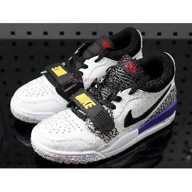 Air Jordan Legacy 312 Low Lakers CD7069-108 Summit White/Varsity Red/Black/Varsity Purple/University Gold Sneakers