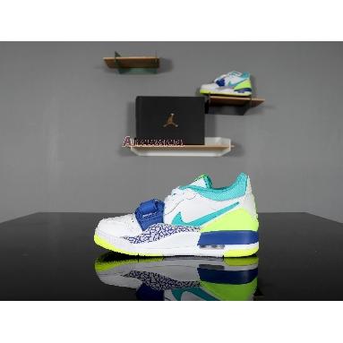 Just Don x Air Jordan Legacy 312 Low Neon Aquamarine CD7069-103 White/Ultramarine-Neon Yellow-Aquamarine Sneakers