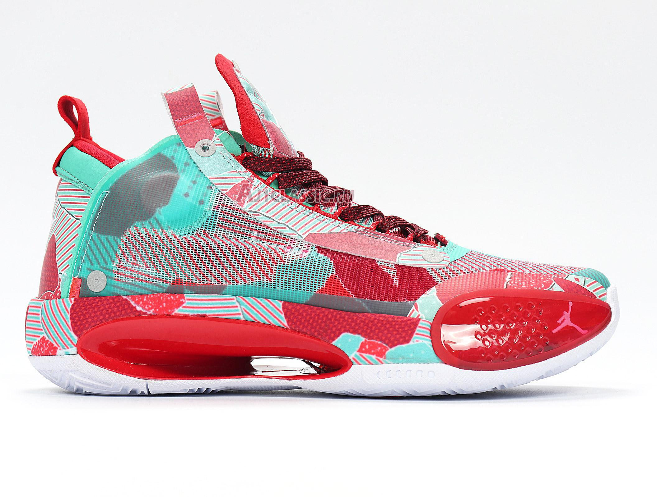 """Air Jordan 34 """"Wrapping Paper"""" Christmas PE BQ3381-301"""
