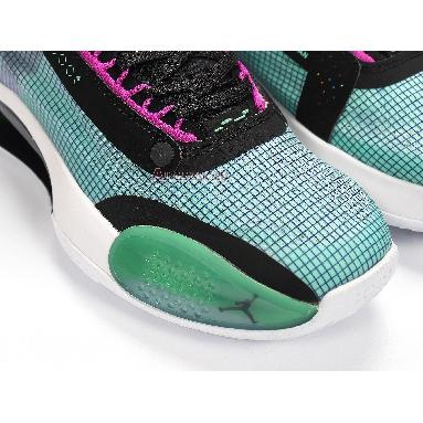 Air Jordan 34 Blue Void BQ3381-400 Blue Void/Green Glow-Black-Metallic Silver Sneakers