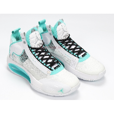 Air Jordan 34 PF Guo Ailun PE BQ3381-103 White/Metallic Silver/Aurora Green Sneakers