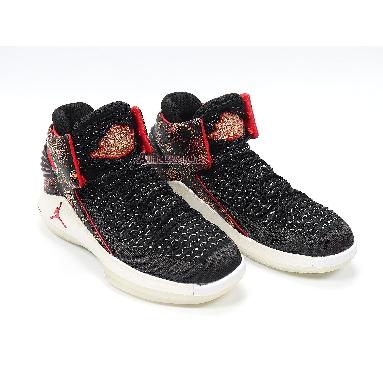 Air Jordan 32 PF CNY Chinese New Year AJ6333-042 Black/University Red/White-Metallic Gold Sneakers