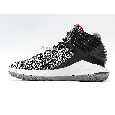 Air Jordan 32 Low PF MVP AA1253-002 Black/University Red-White-Cement Grey Sneakers