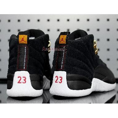 Air Jordan 12 Retro Reverse Taxi 130690-017 Black/White-Taxi-Black Sneakers