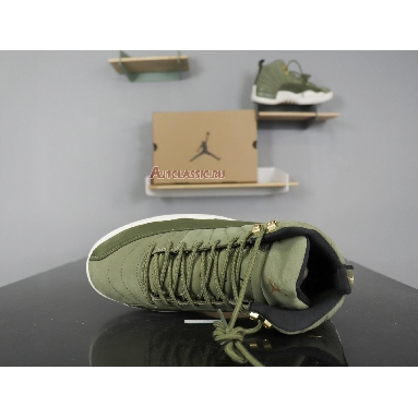 Air Jordan 12 Chris Paul Class of 2003 130690-301 Olive Canvas/Sail/Black-Metallic Gold Sneakers