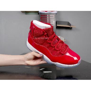 Air Jordan 11 Retro Win Like 96  378037-623 Gym Red/White-Black Sneakers