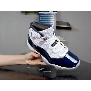 Air Jordan 11 Retro Win Like 82 378037-123 White/University Blue-Midnight Navy Sneakers