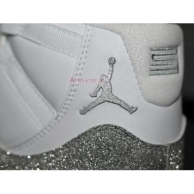 Wmns Air Jordan 11 Retro Vast Grey AR0715-100 White/Metallic Silver-Vast Grey Sneakers