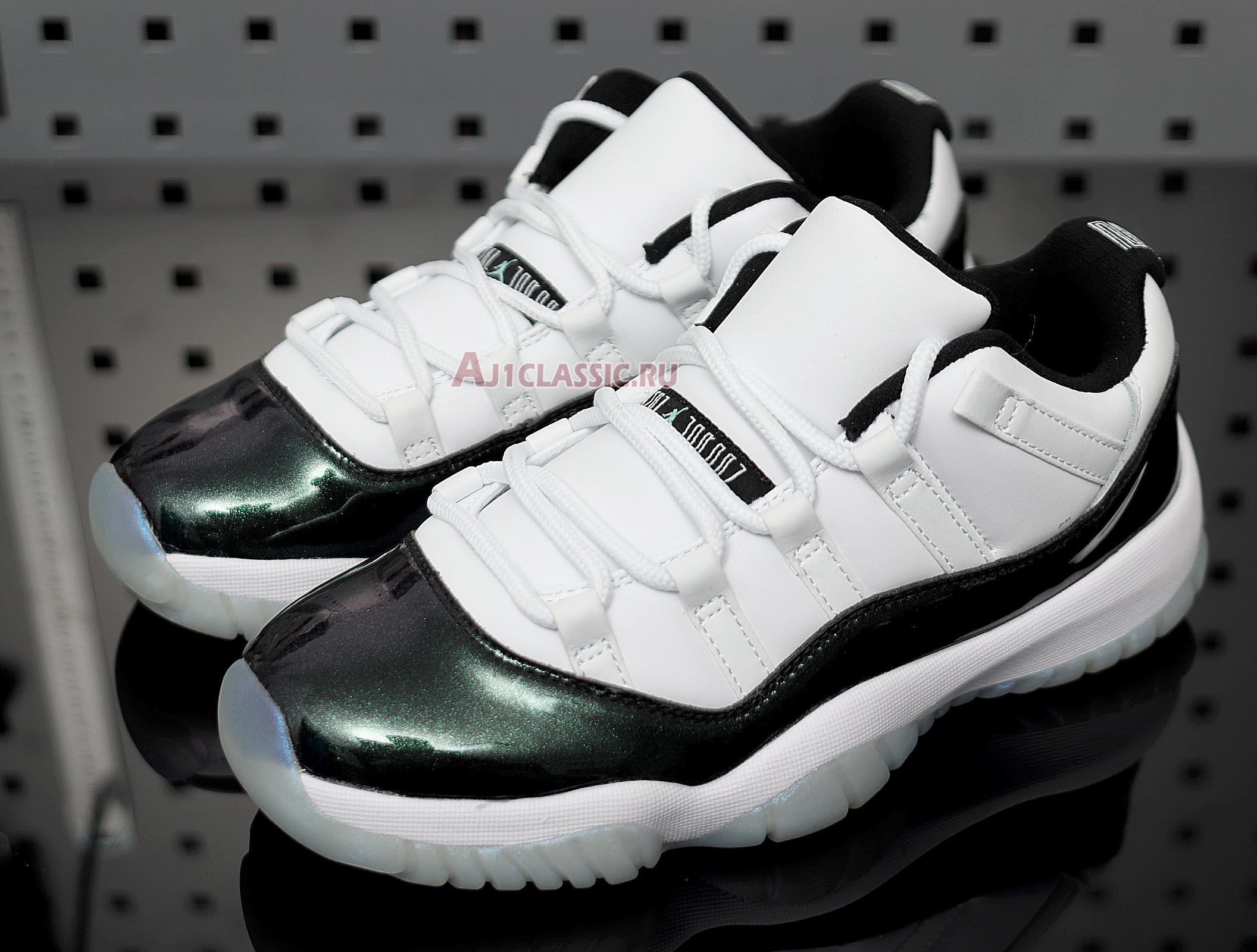 "Air Jordan 11 Retro Low ""Emerald"" 528895-145"
