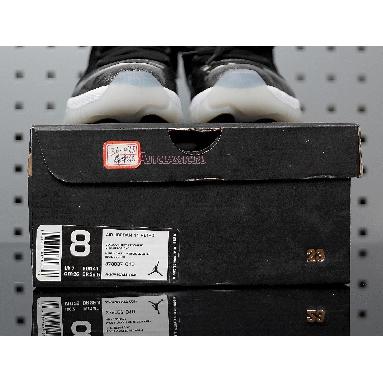 Air Jordan 11 Low Barons 528895-010 Black/Metallic Silver-White Sneakers