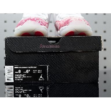 Wmns Air Jordan 11 Retro Low Pink Snakeskin AH7860-106 White/Black-Pink Sneakers