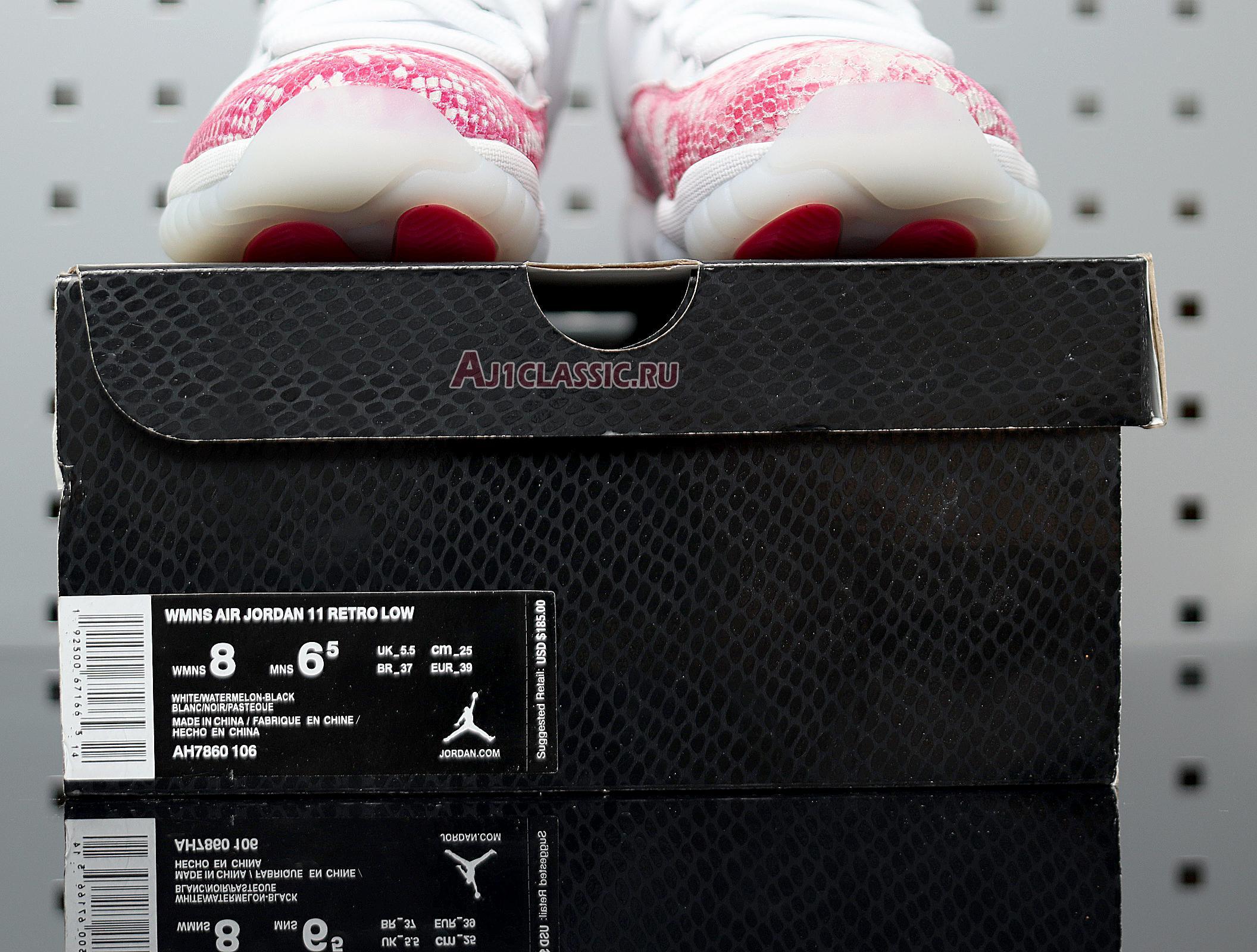 "Wmns Air Jordan 11 Retro Low ""Pink Snakeskin"" AH7860-106"