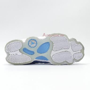 Air Jordan 6 Rings UNC CW7037-100 White/Valor Blue-Ice-White Sneakers