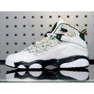 Air Jordan 6 Rings Seattle Supersonics 322992-102 White/Green-Yellow Sneakers