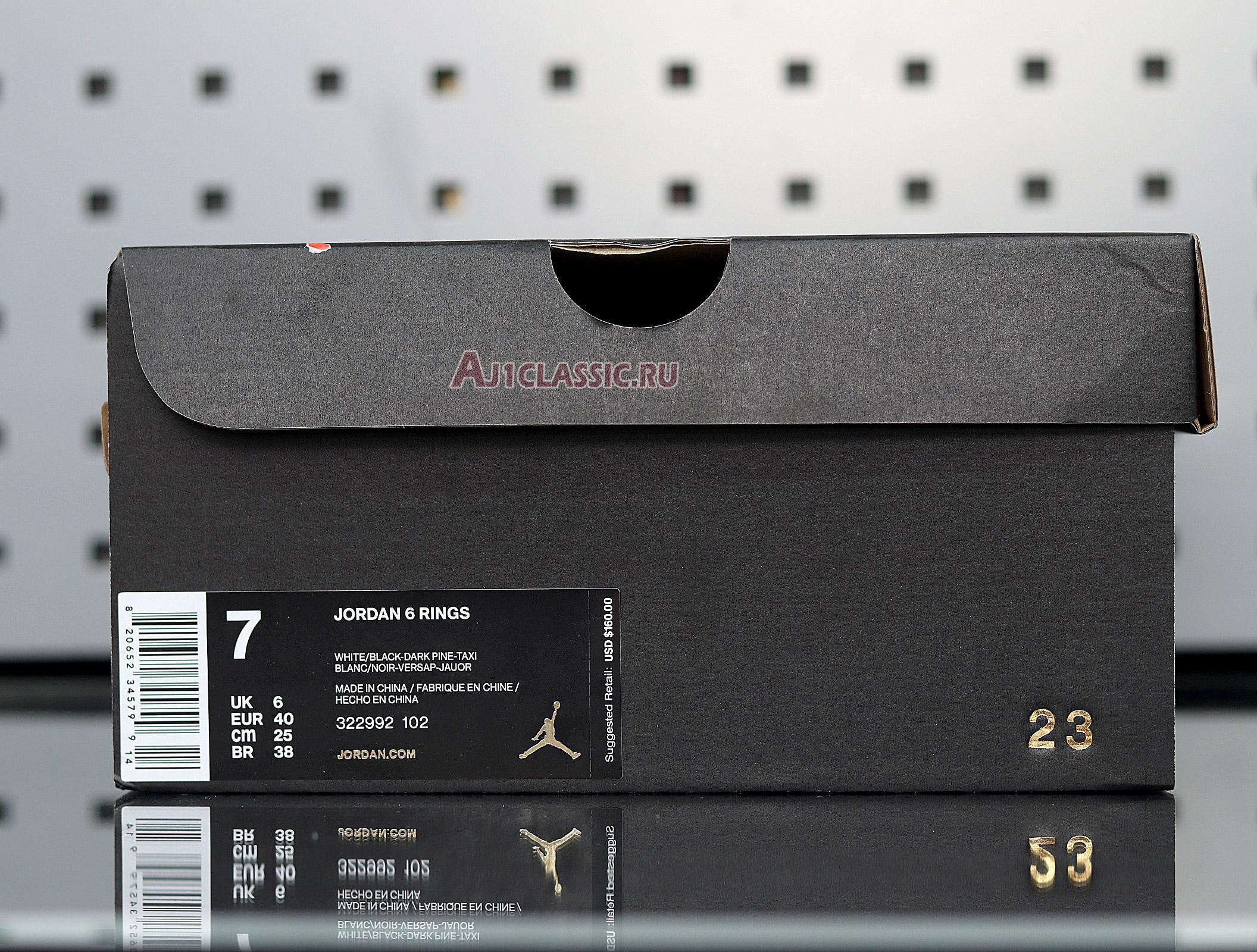 """Air Jordan 6 Rings """"Seattle Supersonics"""" 322992-102"""