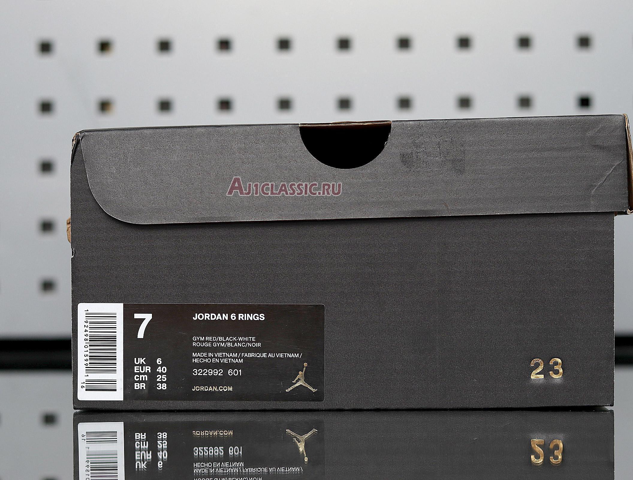 """Air Jordan 6 Rings """"Gym Red"""" 322992-601"""