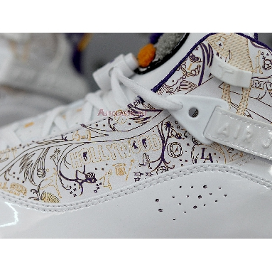 Air Jordan 6 Rings Hollywood 322992-152 White/Court Purple-Taxi-Silver Sneakers