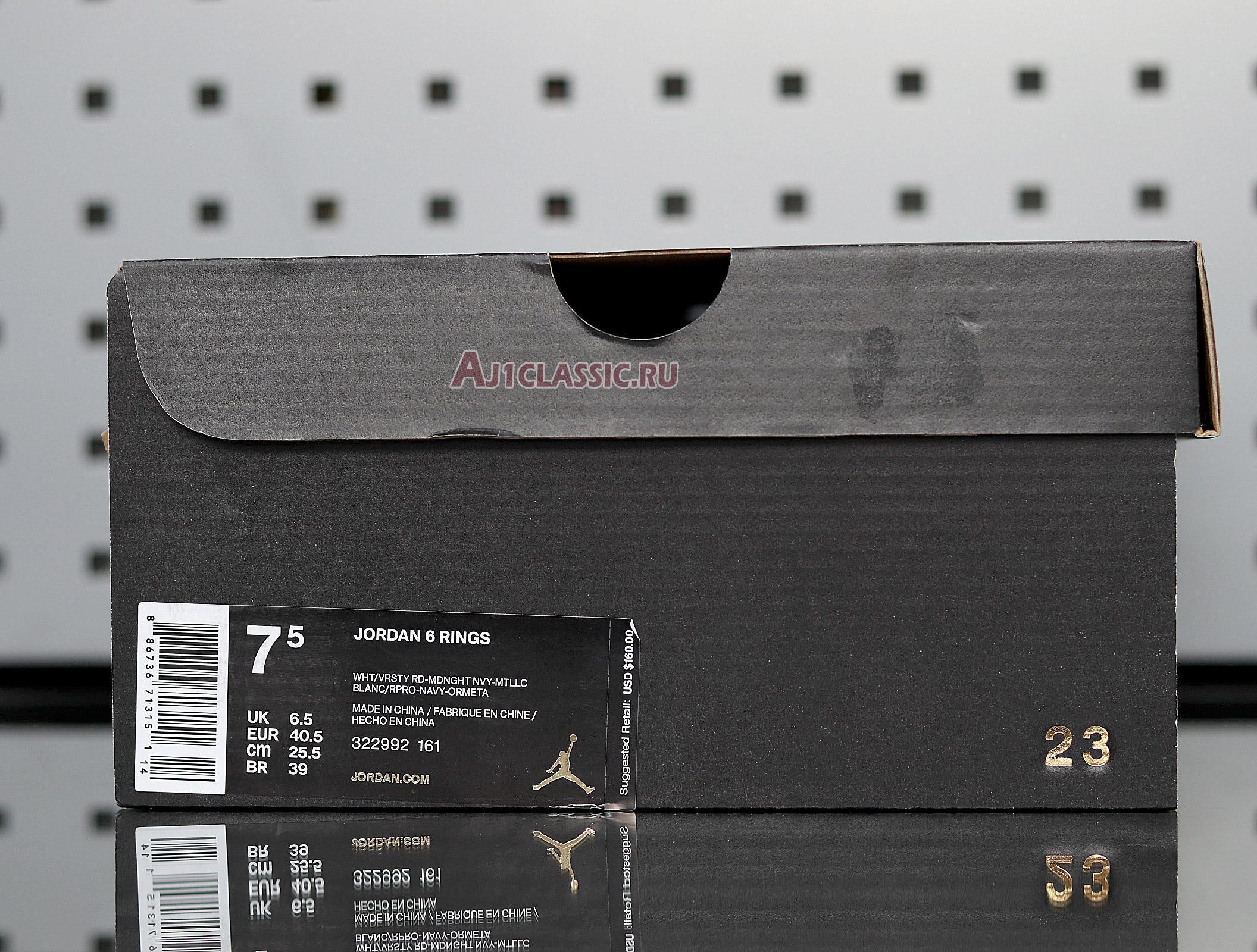 "Air Jordan 6 Rings ""Olympic"" 322992-161"