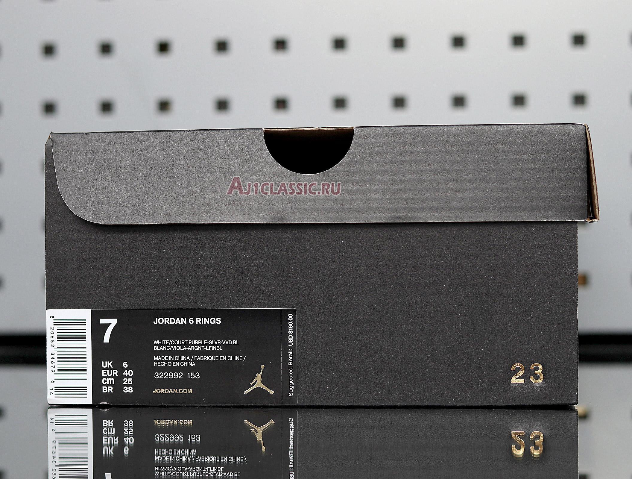 """Air Jordan 6 Rings """"Utah"""" 322992-153"""