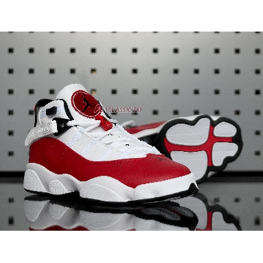 Air Jordan 6 Rings White University Red 322992-120 White/University Red-Black Sneakers