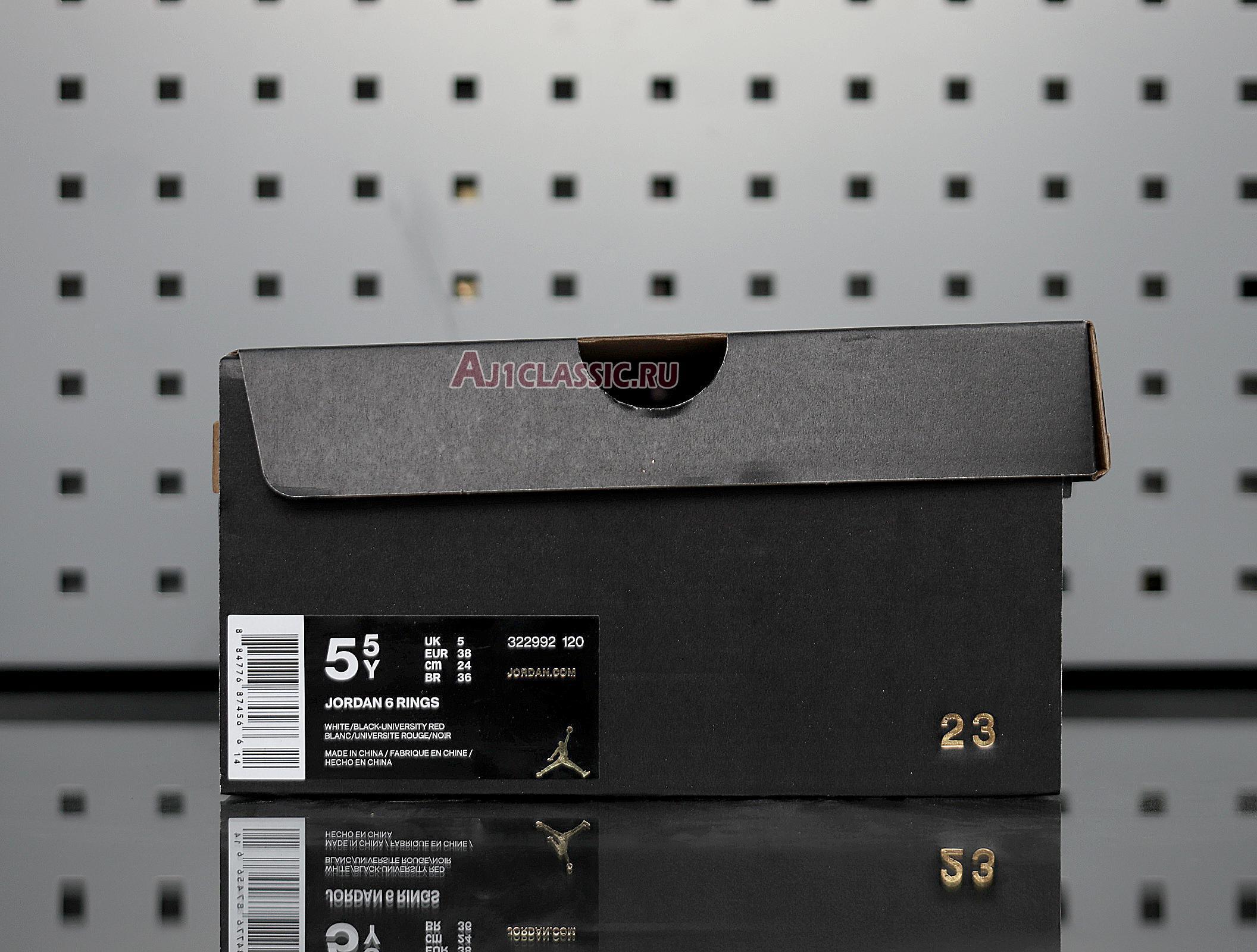 "Air Jordan 6 Rings ""White University Red"" 322992-120"