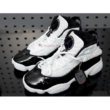 Air Jordan 6 Rings Concord 322992-104 White/Black-Dark Concord Sneakers