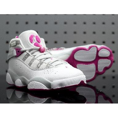 Air Jordan 6 Rings GS Platinum Fuchsia 323399-011 Pure Platinum/Fuchsia Blast Sneakers