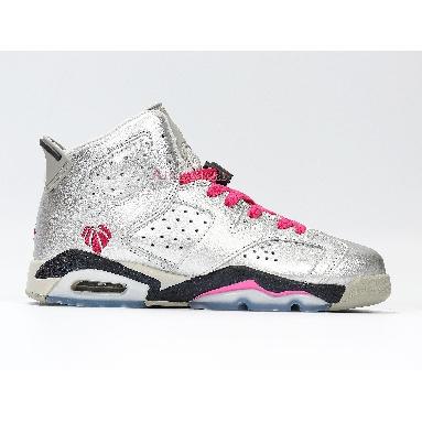 Air Jordan 6 Retro GG Valentines Day 543390-009 Metallic Silver/Vivid Pink-Black Sneakers